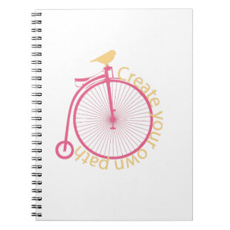 Create Your Own Path Spiral Note Book