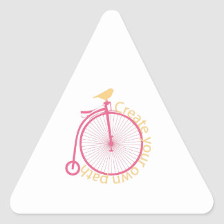 Create Your Own Path Triangle Sticker