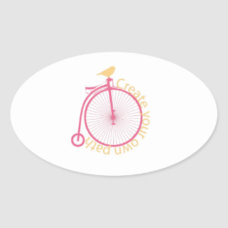 Create Your Own Path Oval Sticker