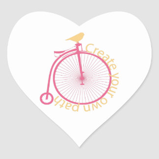 Create Your Own Path Heart Sticker