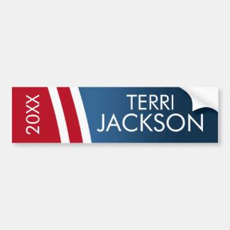 Create Your Own Patriotic Campaign Gear Bumper Sticker