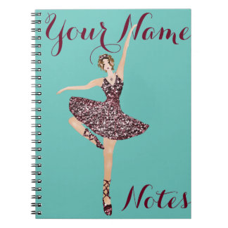 create your own personalised ballerina notebook