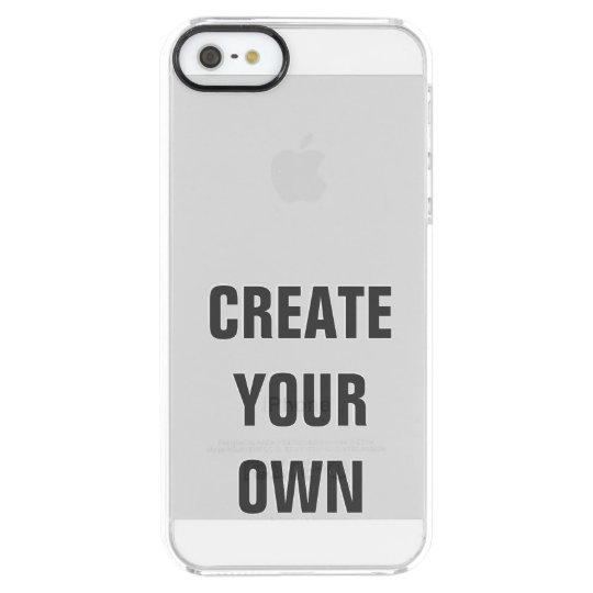 Create Your Own Personalised Modern Elegant Clear iPhone