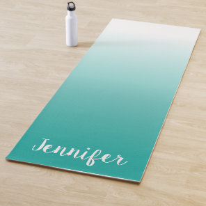 Create Your Own Personalised White Ombre Yoga Mat
