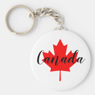 Create Your Own Personalized Canada Red Maple Leaf Key Ring
