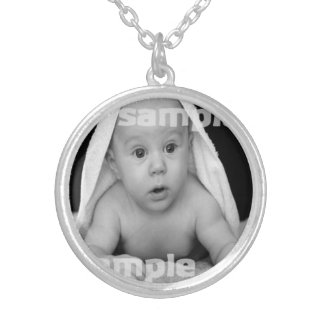 Create Your Own Personalized Round Pendant Necklace