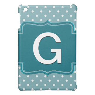 Create Your Own Personalized Teal Jade Polka Dots iPad Mini Case