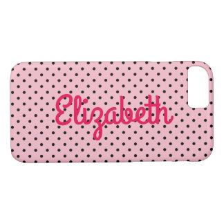 Create Your Own Personalized Tiny Black Polka Dot iPhone 8/7 Case