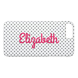 Create Your Own Personalized Tiny Black Polka Dot iPhone 8 Plus/7 Plus Case