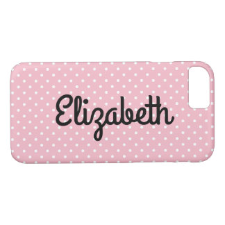 Create Your Own Personalized Tiny White Polka Dot iPhone 8/7 Case