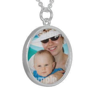 Create Your Own Personalized Unique Designer Round Pendant Necklace