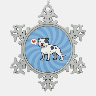 Create Your Own Pet Snowflake Pewter Christmas Ornament