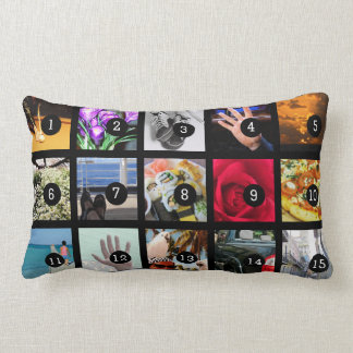 Create Your Own Photo album with 15 images Lumbar Cushion