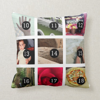 Create Your Own Photo album with 18 images Cushion