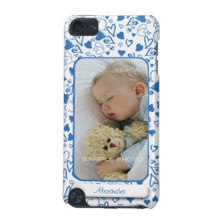 Create Your Own Photo Blue Hearts Love Child iPod Touch (5th Generation) Covers