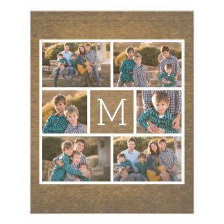 Create Your Own Photo Collage - 6 photos Monogram 11.5 Cm X 14 Cm Flyer