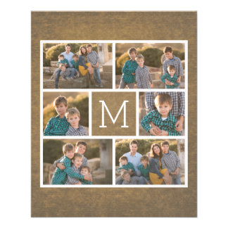 Create Your Own Photo Collage - 6 photos Monogram Flyer