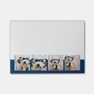 Create Your Own Photo Collage Navy 4 Pictures Post-it Notes