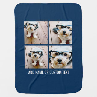 Create Your Own Photo Collage Navy 4 Pictures Pramblankets