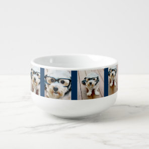 Create Your Own Photo Collage Navy 4 Pictures Soup Mug