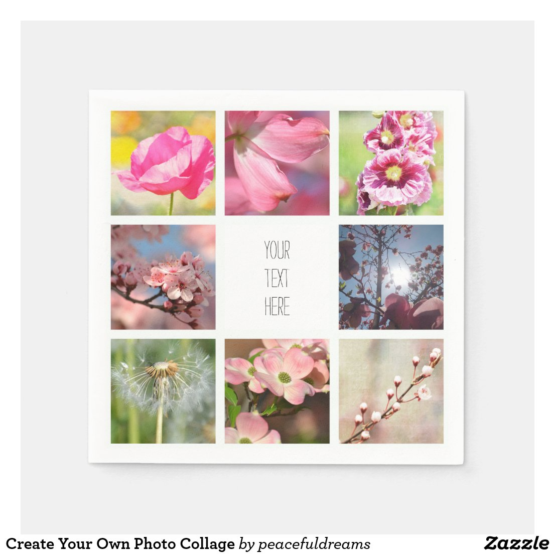 Create Your Own Photo Collage Napkins