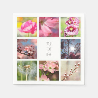 Create Your Own Photo Collage Paper Napkins