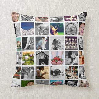 Photo Collage Throw Pillow