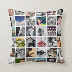 Create-Your-Own Photo Collage Throw Pillow at Zazzle