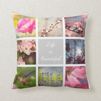 Create Your Own Photo Collage Throw Pillow