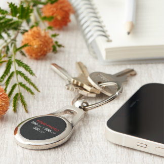 Create Your Own Photo Custom Oval Silver-Colored Oval Key Ring