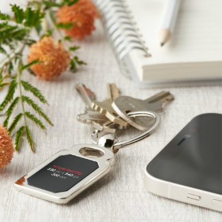 Create Your Own Photo Custom Rectangle Silver-Colored Rectangle Key Ring