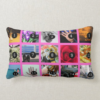 Create Your Own Photo decor with 15 images Lumbar Pillow