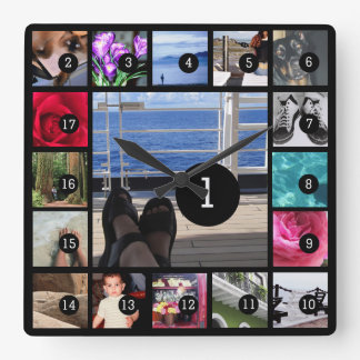 Create Your Own Photo Instagram Style 17 images Square Wall Clock