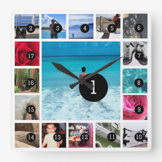 Create Your Own Photo Instagram Style 17 images Wall Clock