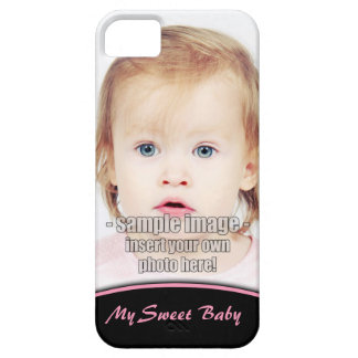 Create Your Own Photo Pink Edge iPhone5 Barely There iPhone 5 Case
