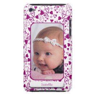 Create Your Own Photo Pink Hearts Love Child Case-Mate iPod Touch Case
