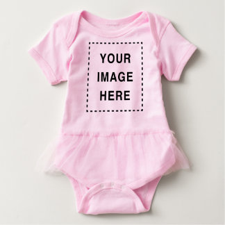 Create Your Own Pink Tutu Cute Baby Girl Romper Baby Bodysuit