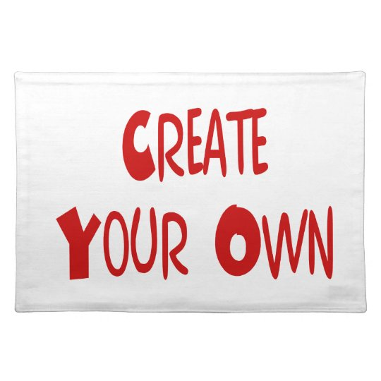 Create your own placemat