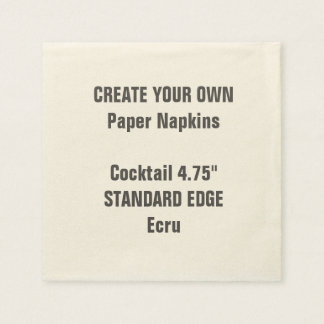Create Your Own Plain Edge Cocktail Paper Napkins