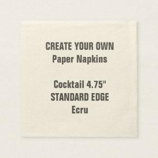 Create Your Own Plain Edge Cocktail Paper Napkins Paper Napkin