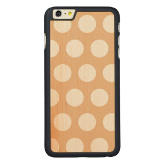 Create Your Own Polka Dot Carved Maple iPhone 6 Plus Case