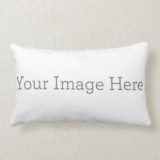 "Create Your Own Polyester Lumbar Pillow 13"" x 21"" Throw Cushions"
