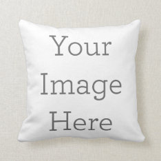 Create Your Own Polyester Throw Pillow 16x16 at Zazzle