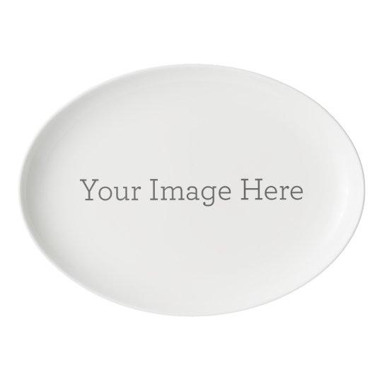 33 cm x 23.5 cm Porcelain Coupe Platter