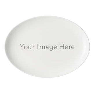 Create Your Own Porcelain Coupe Platter Porcelain Serving Platter