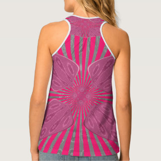 Create Your Own Pretty Vivid Pink tank top