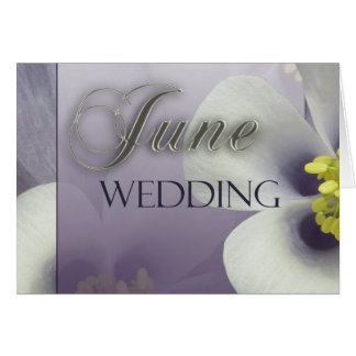 Create your own purple June Wedding Greeting Card