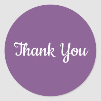 Create Your Own Purple Thank You Classic Round Sticker