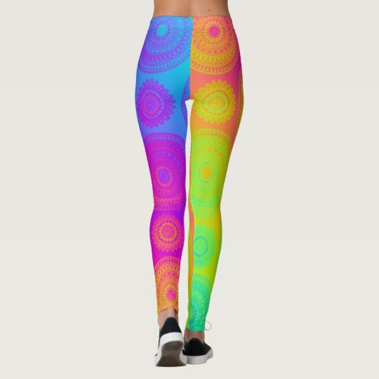 Create Your Own Rainbow Mandala Patterned Leggings
