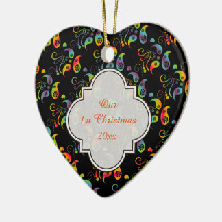 Create Your Own Rainbow Paisley Christmas Ornament
